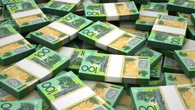 Stack of Australian Dollar