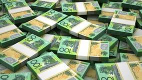 Stack of Australian Dollar stock video footage