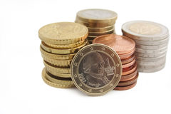 Stack of Austrian Euro coins Royalty Free Stock Photos