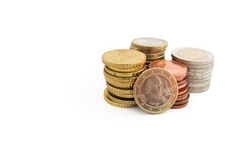 Stack of Austrian Euro coins Royalty Free Stock Image