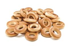 Stack of bagels Royalty Free Stock Photography