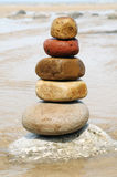 Stack of balanced rocks Stock Photo