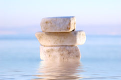 Stack of balanced stones. Stack of balanced marble stones Stock Photo