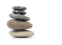 Stack of balanced stones Stock Images