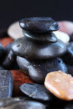 Stack of balanced zen stones Stock Photos