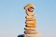 Stack in balancing Royalty Free Stock Image
