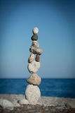 Stack of balancing pebbles Royalty Free Stock Image