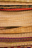 Stack of bamboo weave reed Royalty Free Stock Photos