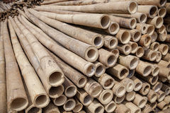 Stack of bamboo wood Stock Photos