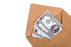 Stack of Banknotes in Envelope Stock Photos