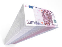 Stack of banknotes. Five hundred euros. Stock Photos