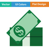 Stack of banknotes icon Royalty Free Stock Image