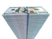 Stack of banknotes. New one hundred dollars. 3D illustration Royalty Free Stock Images