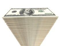 Stack of banknotes. One hundred dollars. 3D illustration Stock Image