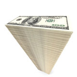 Stack of banknotes. One hundred dollars. 3D illustration Royalty Free Stock Image