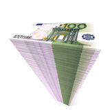 Stack of banknotes. One hundred euros. Stock Photo