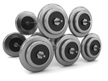Stack of Barbells Royalty Free Stock Photo