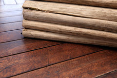Stack bark on wooden table background. The stack bark on wooden table background stock photo