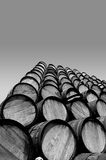 Stack of barrels. A stack of barrels outside Stock Photography