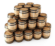 Stack of barrels Royalty Free Stock Images