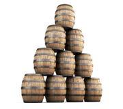 Stack of barrels vector illustration