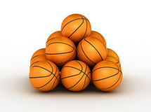 Stack of basketball balls. Stack of piled up basketball balls vector illustration