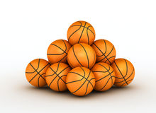 Stack of basketball balls. Stack of piled up basketball balls royalty free illustration