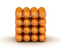 Stack of basketball balls. Stack of piled up basketball balls stock illustration