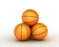 Stack of basketball balls. Stack few of piled up basketball balls royalty free illustration