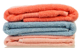 Stack from bath towels Royalty Free Stock Image