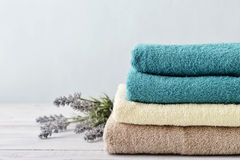 Stack of bath towels Stock Image