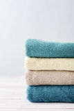 Stack of bath towels Stock Photography