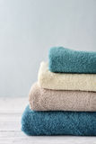 Stack of bath towels Stock Images