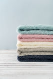 Stack of bath towels Royalty Free Stock Photos