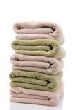 A Stack of Bath Towels Neatly Folded Stock Photography