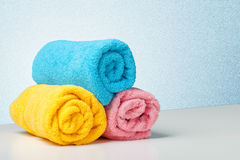 Stack of bath towels Royalty Free Stock Photo