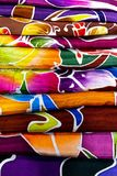 Stack of Batik. royalty free stock images