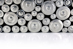 Stack of batteries Royalty Free Stock Photography