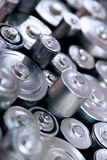 Stack of batteries Royalty Free Stock Photo