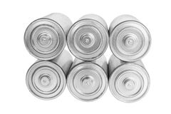 Stack of Batteries Royalty Free Stock Images