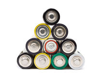 Stack of battery Royalty Free Stock Photography