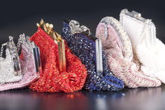 Stack of beaded evening bag Stock Photography