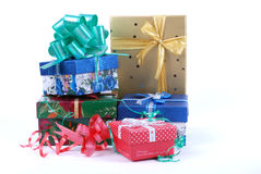 Stack of beautiful  gift boxes Stock Image