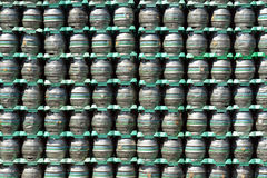 Stack of beer barrels Stock Photos