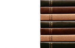 Stack of Bibles 2. Stack of Bibles on white background royalty free stock photos