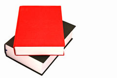 Stack of big books. Two big books on white background Stock Photography