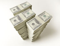 Stack of $100 bills Stock Photography