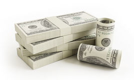 Stack of $100 bills Royalty Free Stock Photography