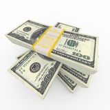 Stack of  100 bills Royalty Free Stock Photos