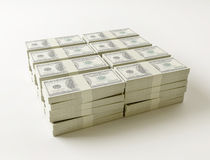 Stack of $100 bills Royalty Free Stock Photo